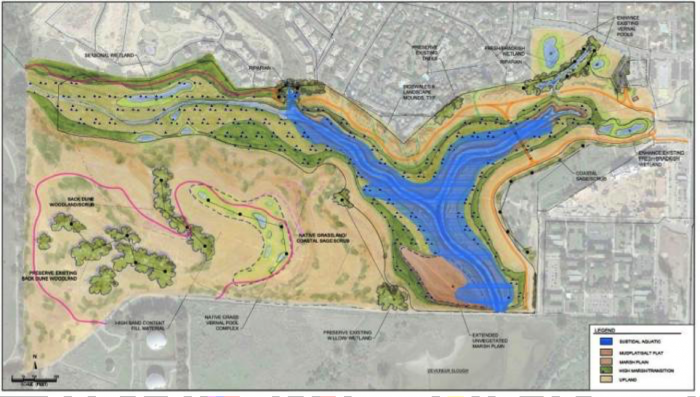 North Campus Open Space Habitat Restoration Map